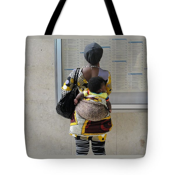 Tote Bag featuring the photograph Have Baby Will Travel by Natalie Ortiz