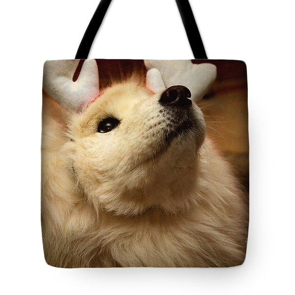 Have I Been A Good Doggie? Tote Bag by Lois Bryan