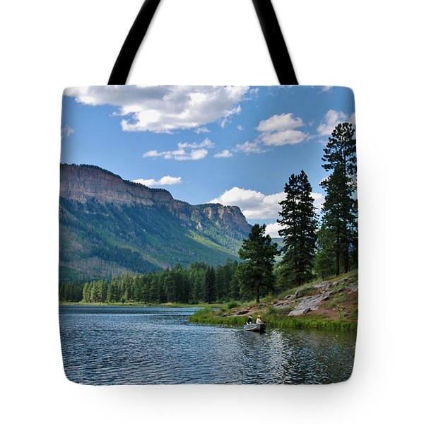 Tote Bag featuring the photograph Haviland Lake by Janice Rae Pariza