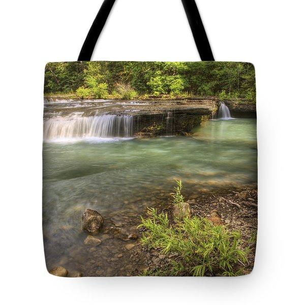 Haw Creek Falls Basin - Ozarks - Arkansas Tote Bag by Jason Politte