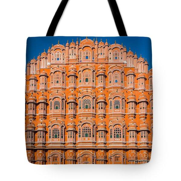 Hawa Mahal Moon Tote Bag by Inge Johnsson