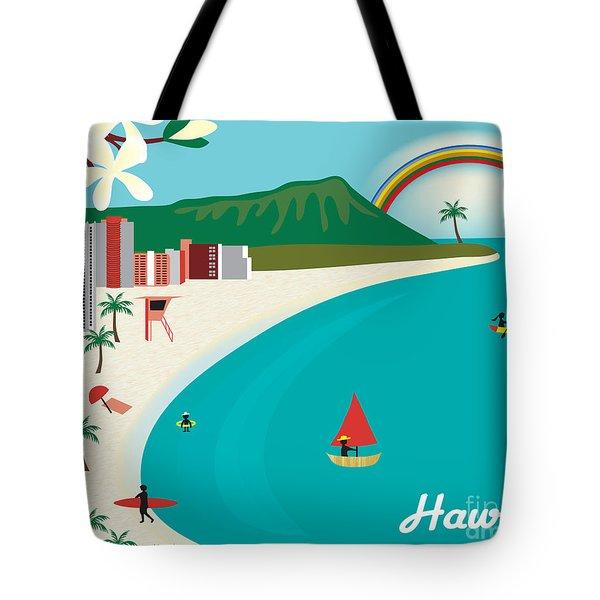 Hawaii Tote Bag by Karen Young