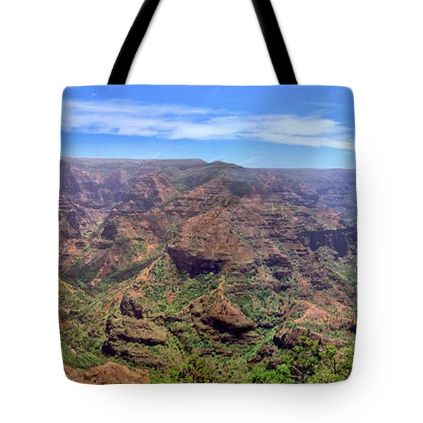Hawaii Kauai Waimea Canyon Beautiful Panorama Tote Bag