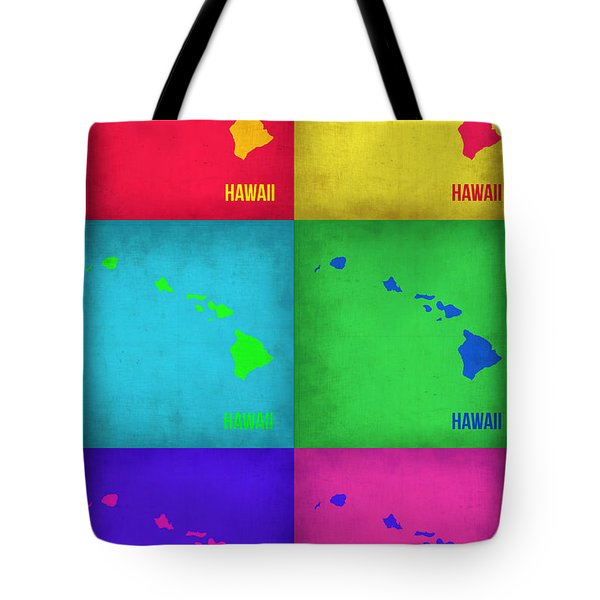 Hawaii Pop Art Map 1 Tote Bag