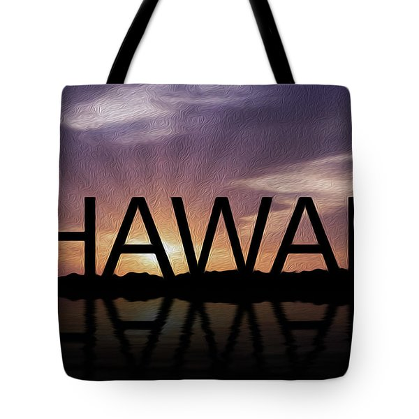Hawaii Tropical Sunset Tote Bag by Aged Pixel
