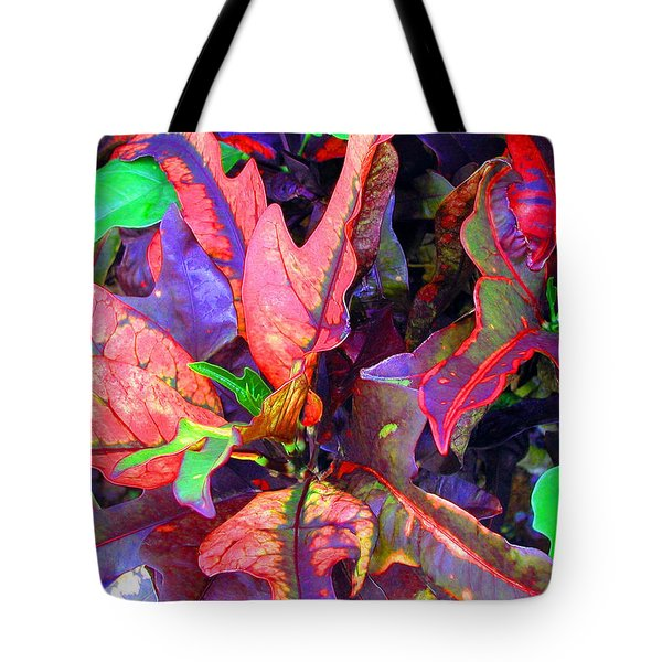 Hawaiian Foliage Tote Bag by Jean Hall