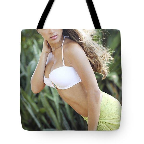 Hawaiian Girl Tote Bag by Vince Cavataio