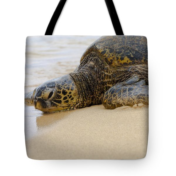 Hawaiian Green Sea Turtle 3 Tote Bag by Brian Harig
