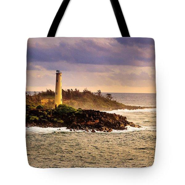 Hawaiian Lighthouse Tote Bag