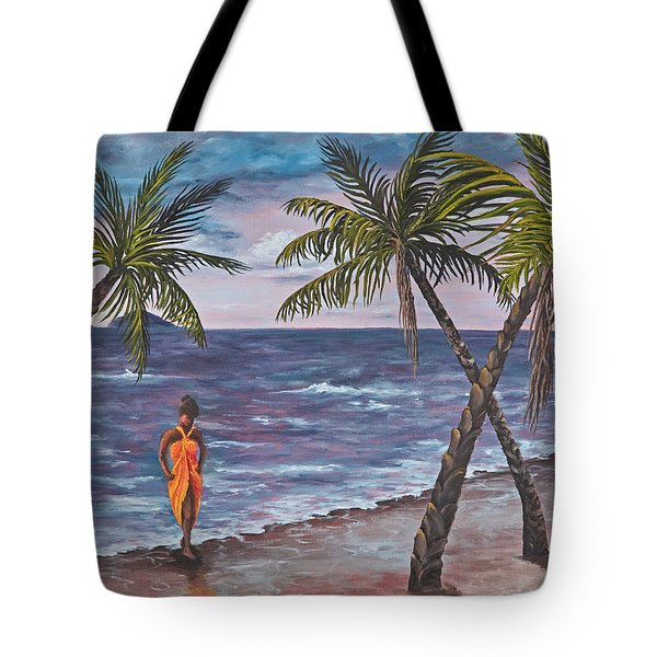 Hawaiian Maiden Tote Bag by Darice Machel McGuire