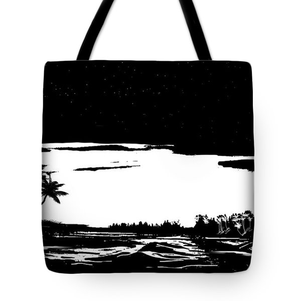 Tote Bag featuring the digital art Hawaiian Night by Anthony Fishburne