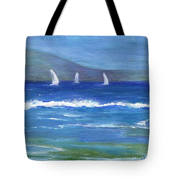Tote Bag featuring the painting Hawaiian Sail by Jamie Frier