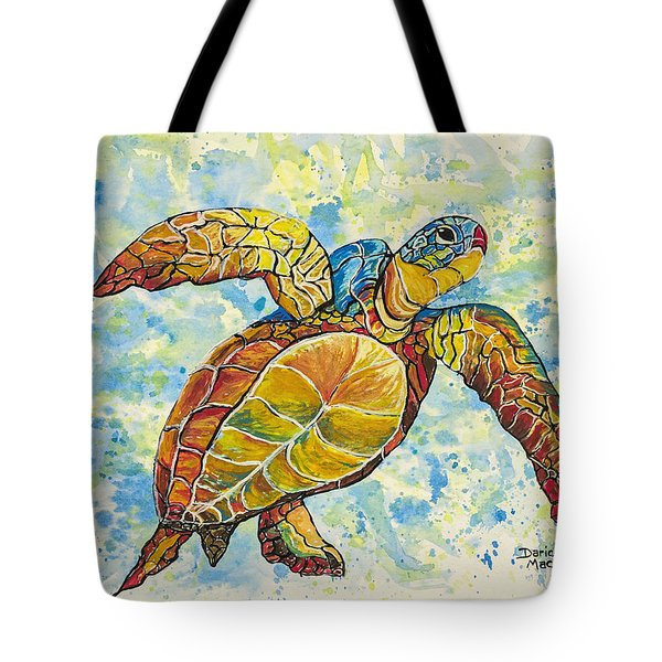 Tote Bag featuring the painting Hawaiian Sea Turtle 2 by Darice Machel McGuire
