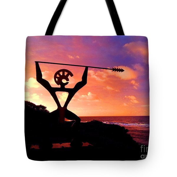 Hawaiian Silhouette Tote Bag