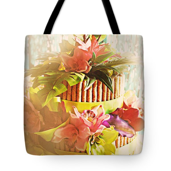 Hawaiian Wedding Cake Tote Bag by Susan Bordelon