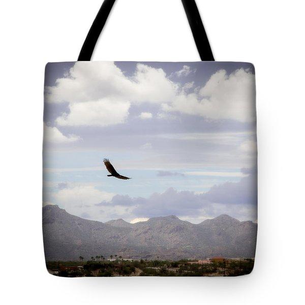 Hawk - 2013-242 Tote Bag by Judi FitzPatrick