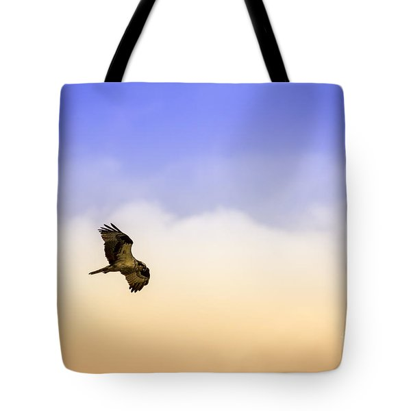 Hawk Over Head Tote Bag