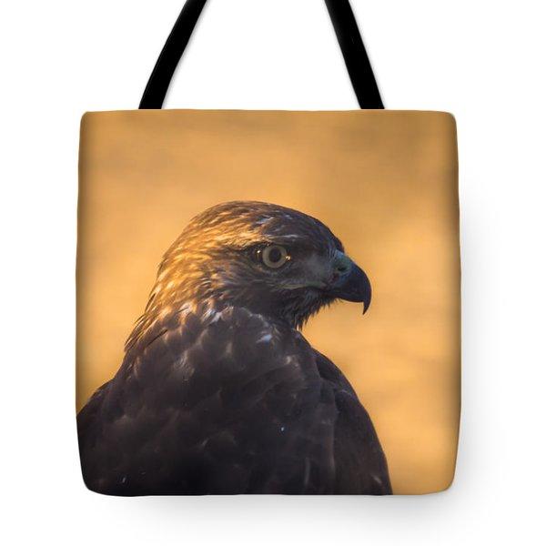 Hawk Profile Tote Bag by Marc Crumpler