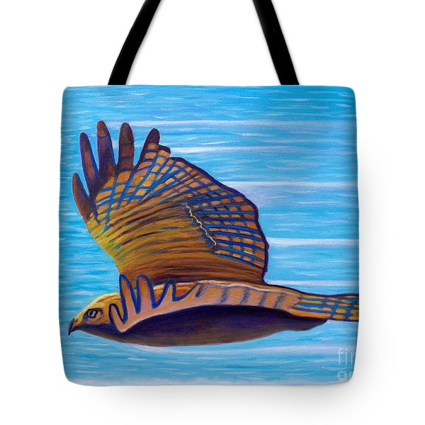 Hawk Speed Tote Bag by Brian  Commerford