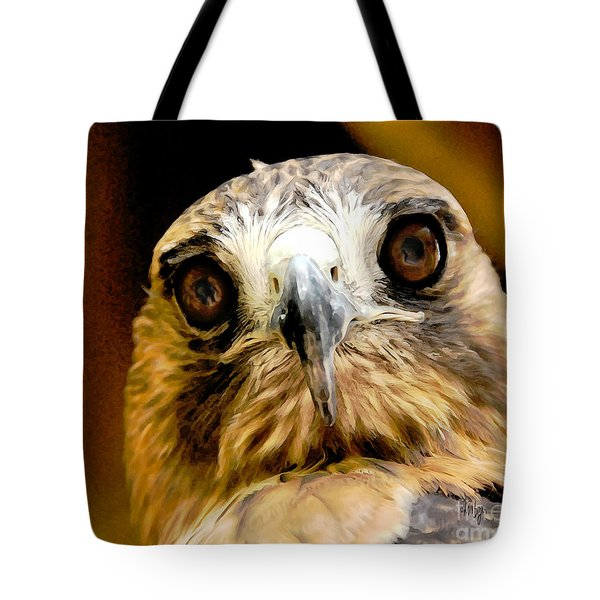 Hawkeye Tote Bag by Lois Bryan