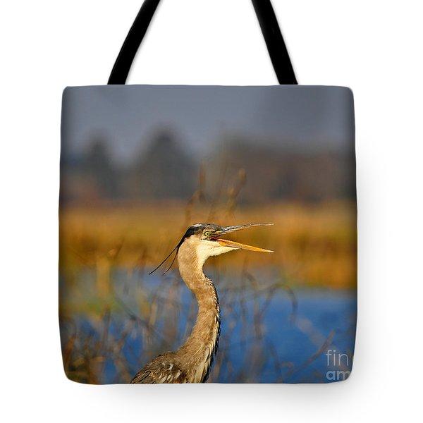 Hawking Heron Tote Bag by Al Powell Photography USA