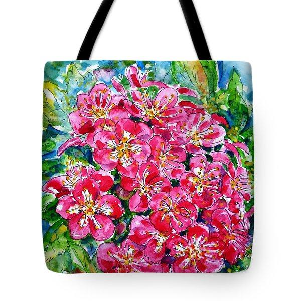 Hawthorn Blossom Tote Bag by Zaira Dzhaubaeva