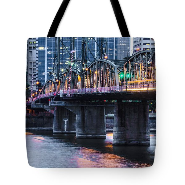Hawthorne Bridge Portland Oregon Tote Bag by Patricia Babbitt