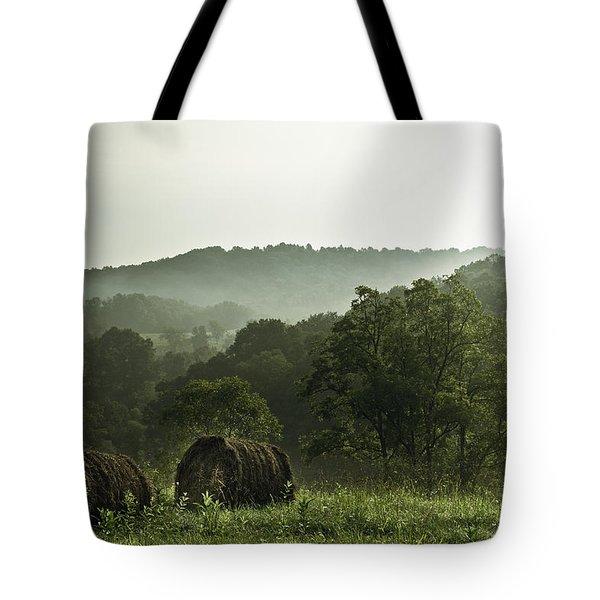 Hay Bales Tote Bag by Shane Holsclaw