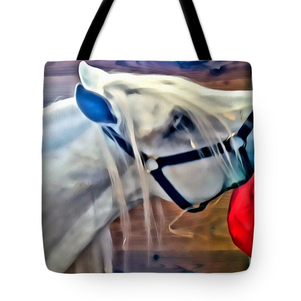 Hay For The White Horse Tote Bag by Alice Gipson
