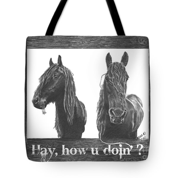 Hay How U Doin Card Tote Bag