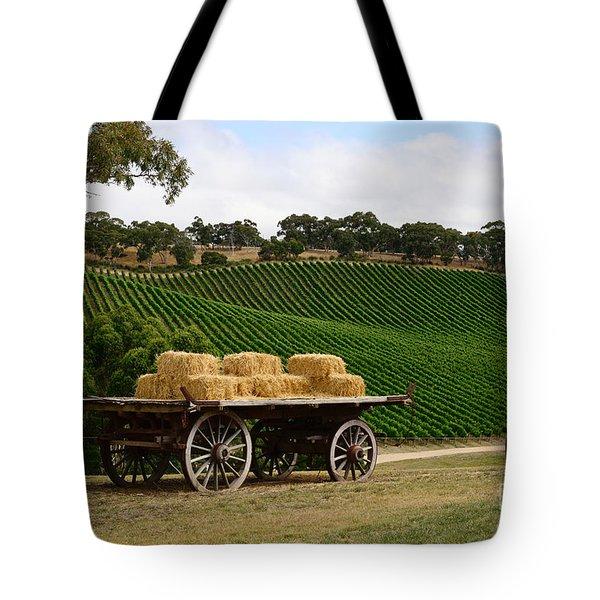 Hay Wagon Tote Bag