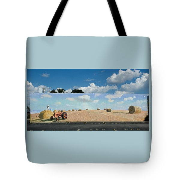 Haybales - The Other Side Of The Tunnel Tote Bag by Blue Sky