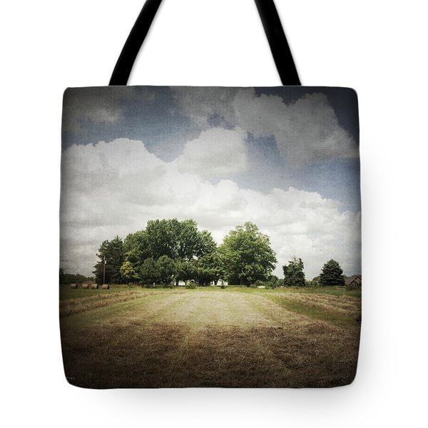 Haying At Angustown Tote Bag by Cynthia Lassiter