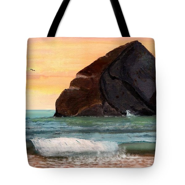 Haystack Rock At Kiwanda Tote Bag