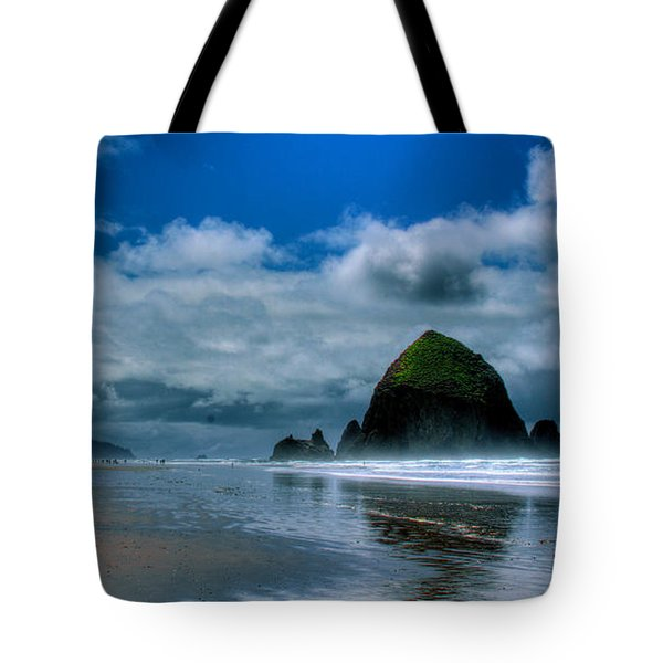 Haystack Rock Iv Tote Bag by David Patterson