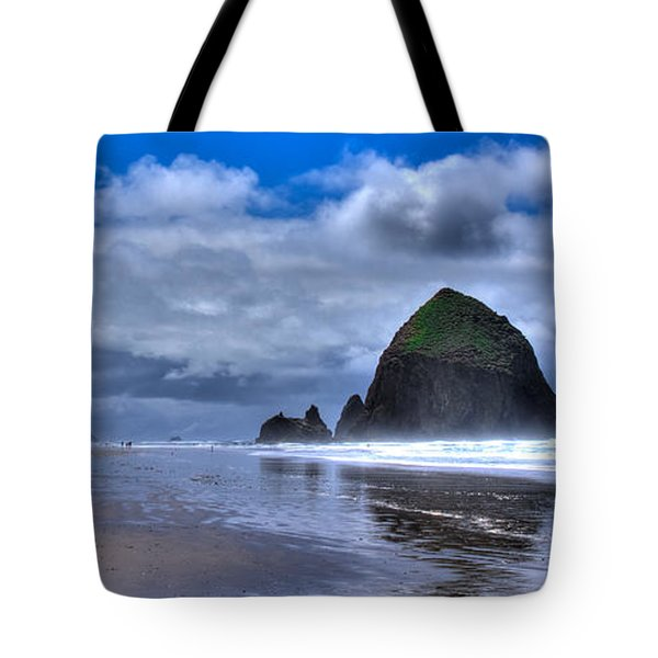 Haystack Rock Iva Tote Bag by David Patterson