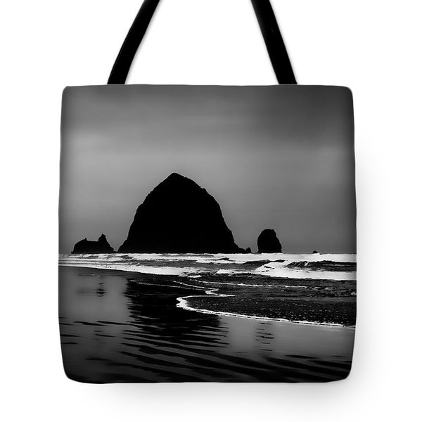 Haystack Rock On Cannon Beach Tote Bag by David Patterson