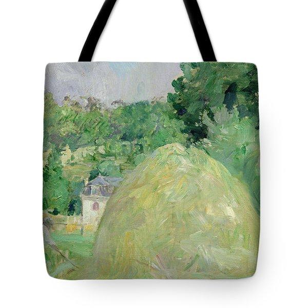 Haystacks At Bougival Tote Bag by Berthe Morisot