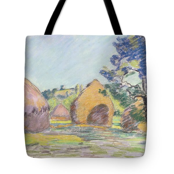 Haystacks At Saint Cheron Tote Bag
