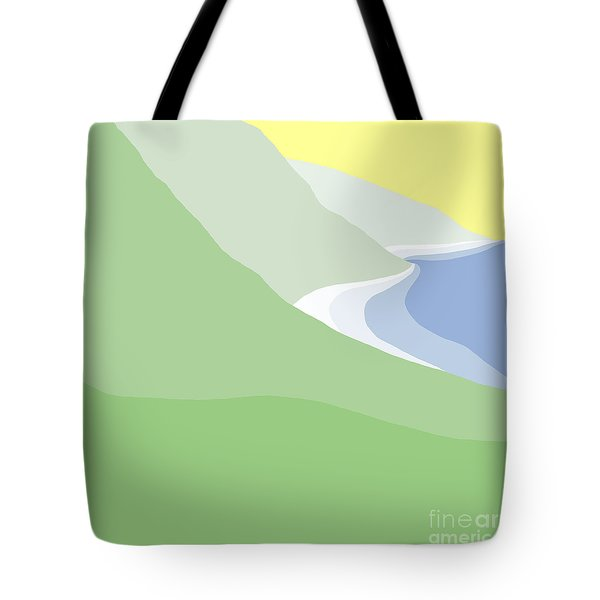 Hazy Coastline Tote Bag