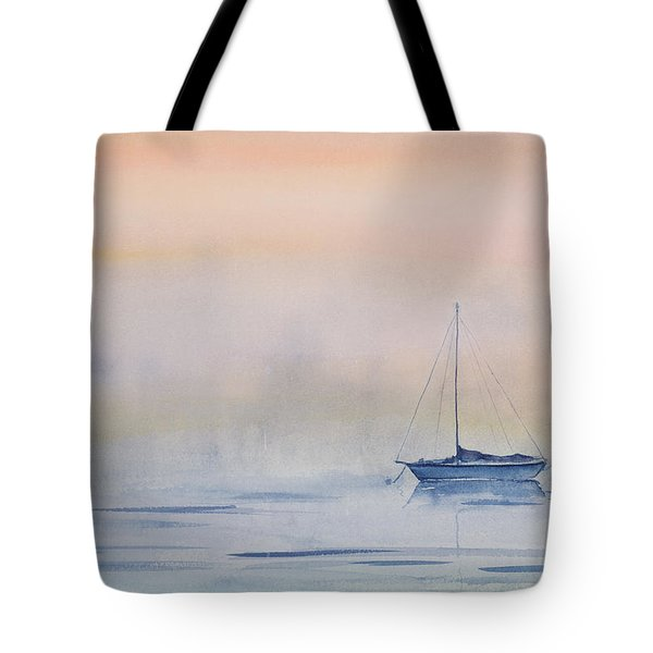 Hazy Day Watercolor Painting Tote Bag