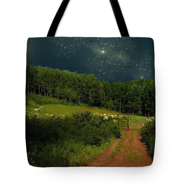 Hazy Moon Meadow Tote Bag