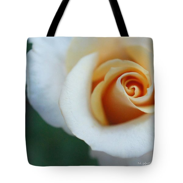 Hazy Rose Squared Tote Bag by TK Goforth