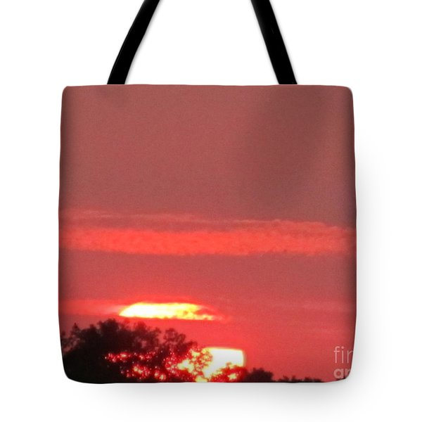 Tote Bag featuring the photograph Hazy Sunset by Tina M Wenger