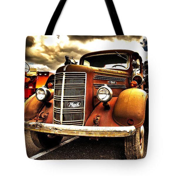 Hdr Fire Truck Tote Bag
