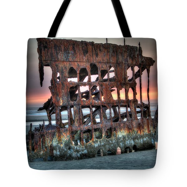 Hdr Peter Iredale Tote Bag by James Hammond