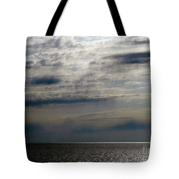 Hdr Storm Over The Water  Tote Bag