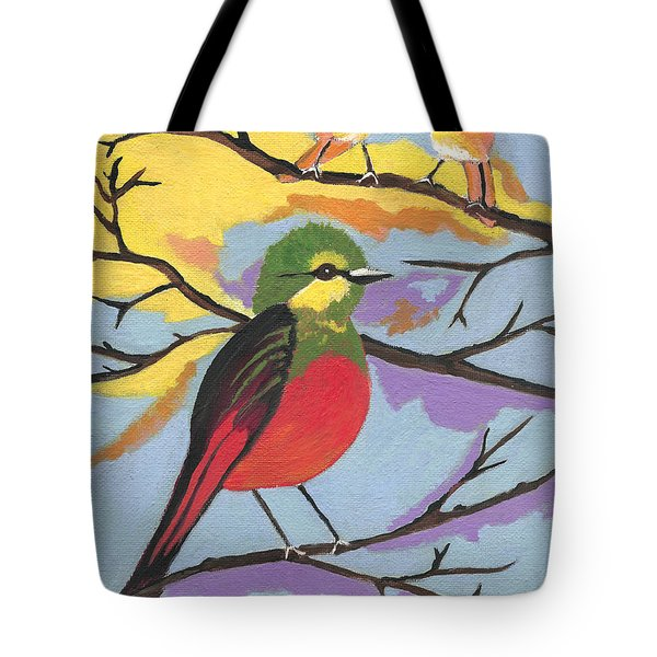 Tote Bag featuring the painting He Aint That Tweet by Kathleen Sartoris