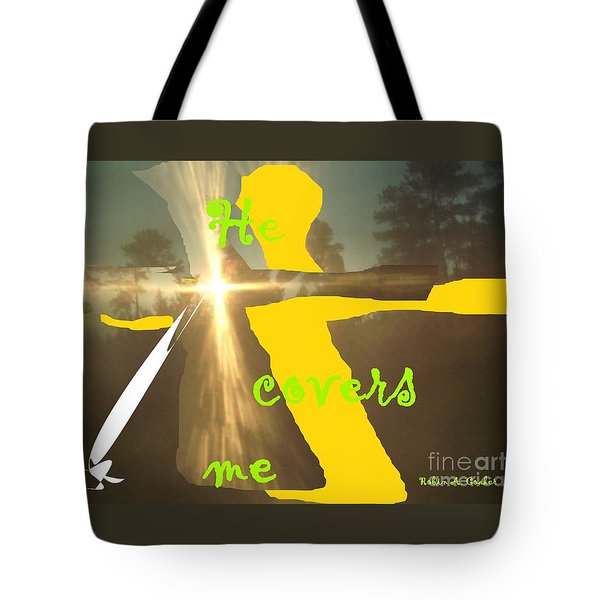 He Covers Me Lll Tote Bag by Robin Coaker