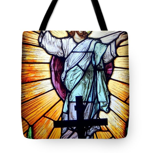 He Is Risen Tote Bag by Ed Weidman